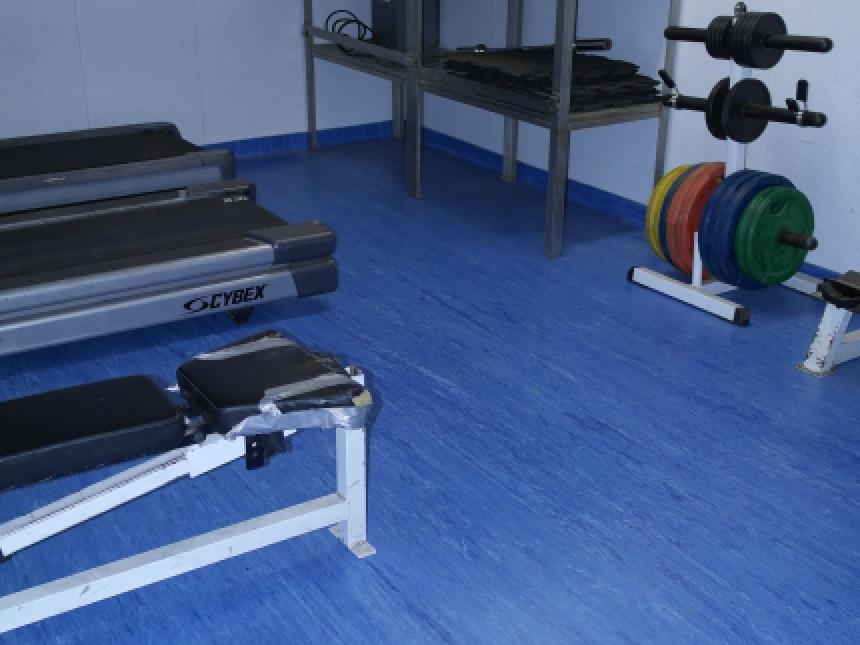 resin floor gym GSF Constellation II