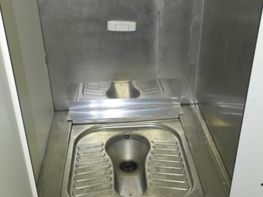 Refurbishment works inside accommodation sanitary unit